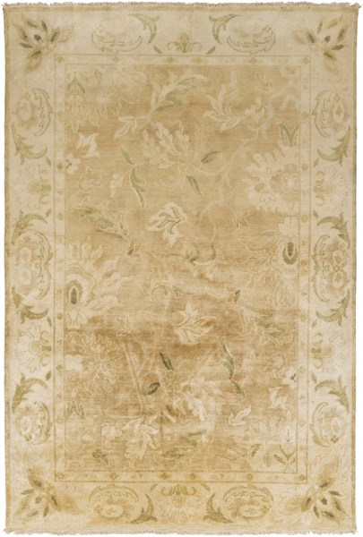 Hillcrest Beige Olive New Zealand Wool Area Rug - 66 x 102 HIL9030-5686
