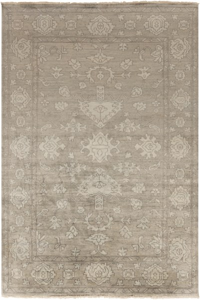 Hillcrest Slate Ivory Light Gray New Zealand Wool Area Rug - 66 x 102 HIL9034-5686