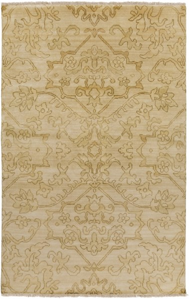 Hillcrest Olive Gold Mocha Wool - New Zealand Area Rug - 66 x 102 HIL9041-5686