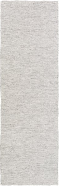Holmes Contemporary Ivory Charcoal Viscose Wool Area Rugs 14828-VAR1