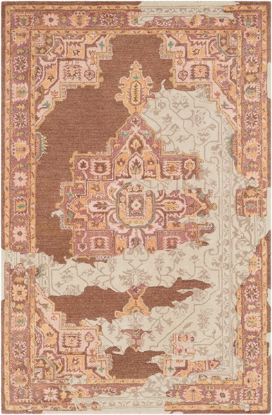 Surya Hannon Hill Camel Taupe Peach Area Rug - 90 x 60 HNO1000-576