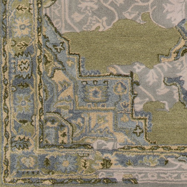 Surya Hannon Hill Light Gray Olive Dark Green Sample Area Rug - 18 x 18 HNO1002-1616