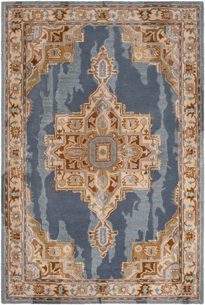 Surya Hannon Hill Denim Teal Dark Brown Area Rug - 120 x 96 HNO1010-810