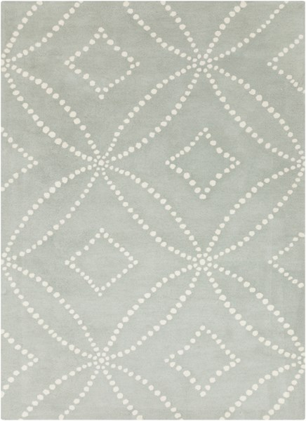 Harlequin Light Gray Ivory Wool Dotted Area Rug (L 96 X W 60) HQL8013-58
