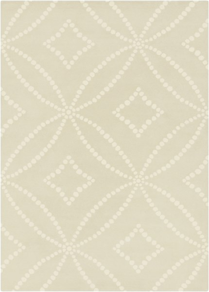 Harlequin Contemporary Light Gray Ivory Wool Area Rug (L 96 X W 60) HQL8020-58