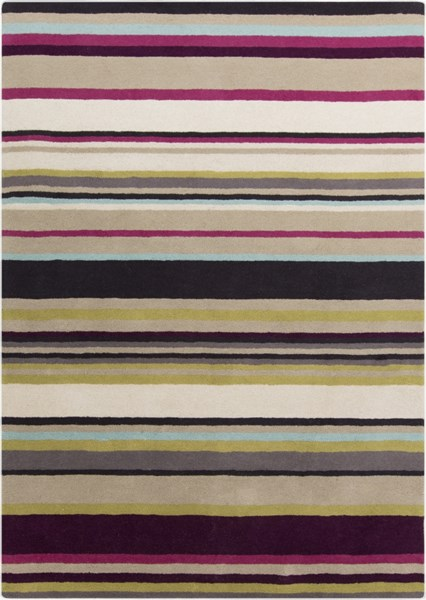 Harlequin Contemporary Taupe Gold Magenta Wool Area Rugs 542-VAR1
