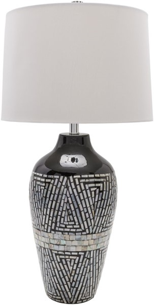 Surya Hillrose Black Table Lamp - 15.4x30.30 HRS100-TBL