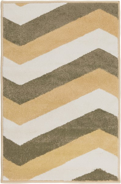 Horizon Contemporary Gold Olive Ivory Polypropylene Area Rugs 1849-VAR1
