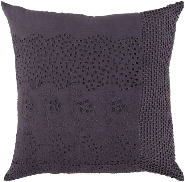 Surya Charcoal Fabric Square Pillow Kits HSK120-VAR