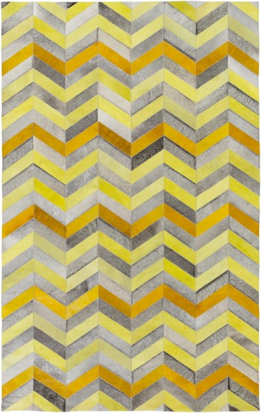 Houseman Butter Gold Gray Hair On Hide Area Rug - 60 x 96 HSM4029-58
