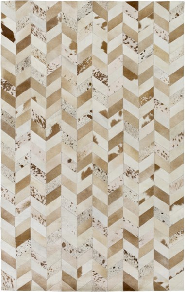 Houseman Modern Beige Taupe Tan Hair On Hide Area Rug (L 96 X W 60) HSM4042-58