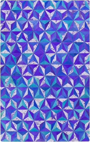 Houseman Modern Violet Iris Lavender Rectangle Area Rug HSM4047-58