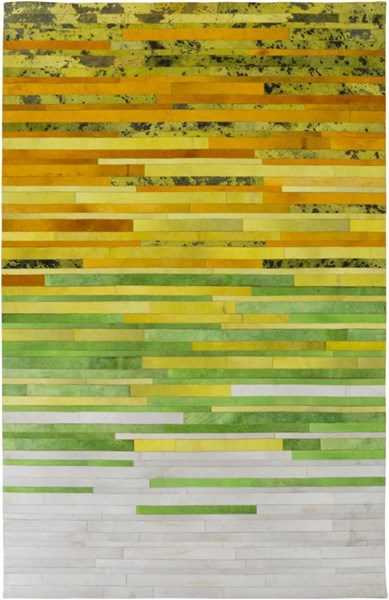 Houseman Modern Gold Lemon Lime Hand Crafted Area Rug HSM4075-58
