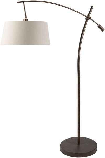Surya Harrison Ivory Metal Floor Lamp - 18x79.50 HSO-002