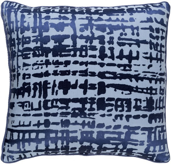 Hessian Cobalt Slate Poly Linen Cotton Throw Pillow - 20x20x5 HSS002-2020P