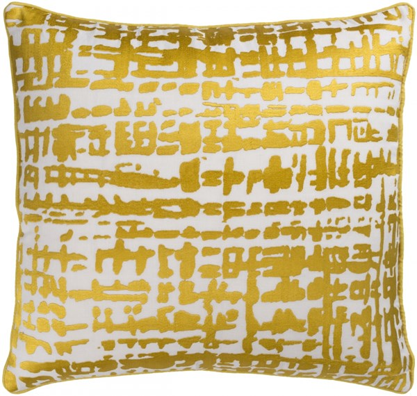 Hessian Gold Ivory Down Linen Cotton Throw Pillow - 20x20x5 HSS003-2020D