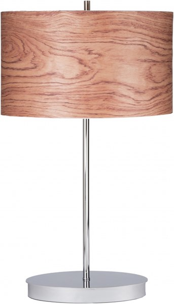 Hunter Brushed Nickel Metal Wood Veneer Lamp HUNTER-DCR-BNDL