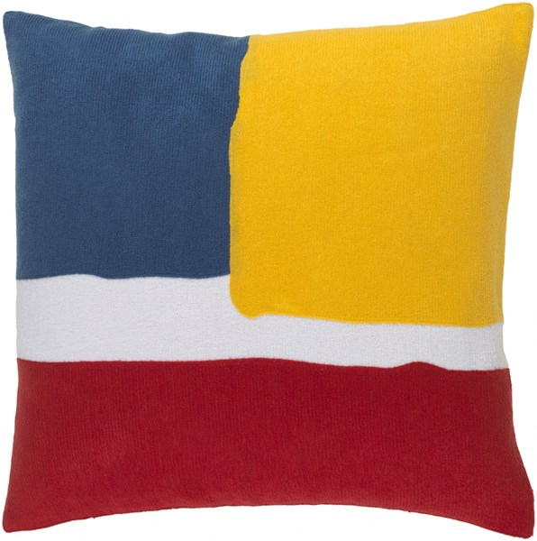 Harvey Pillow With Poly Fill In Poppy Sunflower Cobalt - 20X20X5 HV002-2020P