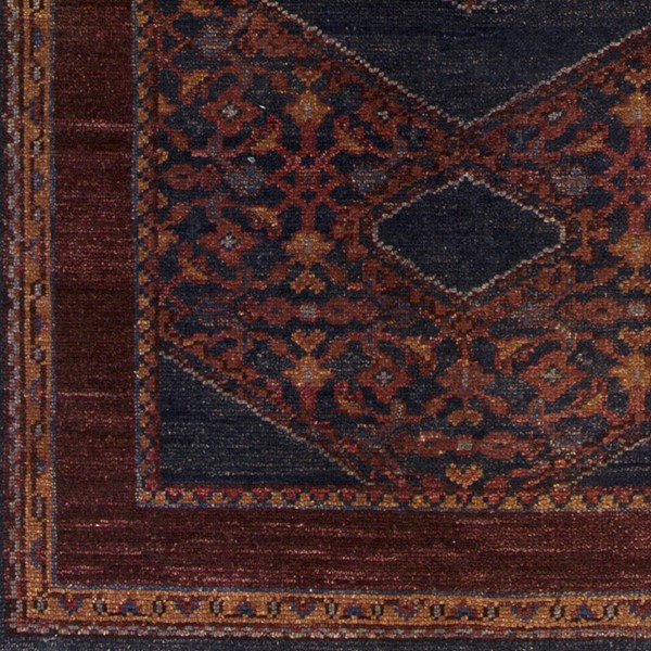Surya Haven Burgundy Dark Purple Burnt Orange Sample Area Rug - 18 x 18 HVN1216-1616