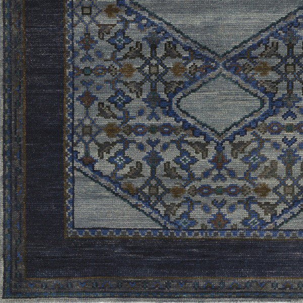 Surya Haven Navy Charcoal Dark Blue Sample Area Rug - 18 x 18 HVN1218-1616
