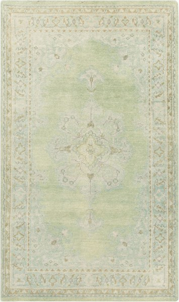 Surya Haven Dark Green Emerald Beige Area Rug - 102 x 66 HVN1222-5686