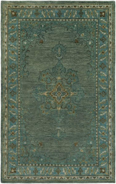 Haven Teal Forest Rust Wool Area Rug - 66 x 102 HVN1227-5686