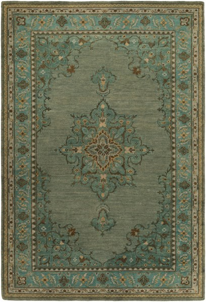 Haven Teal Forest Rust Wool Area Rug - 108 x 156 HVN1227-913