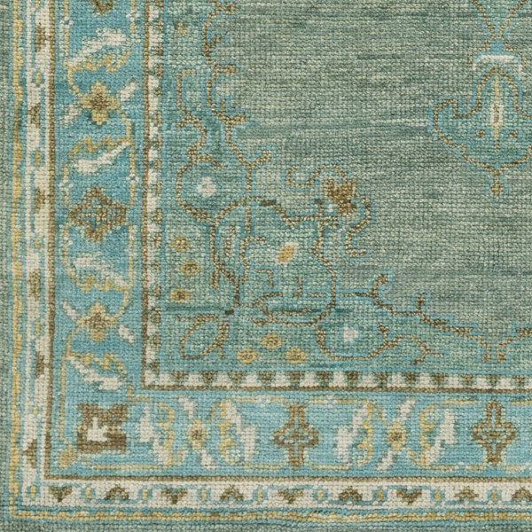 Surya Haven Teal Grass Green Bright Yellow Sample Area Rug - 18 x 18 HVN1227-1616