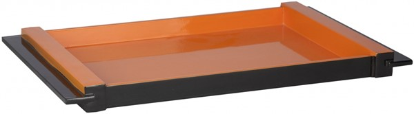ELM Contemporary Tangerine MDF Lacquer Tray - 22W x 10L x 6.3H HWV801-M