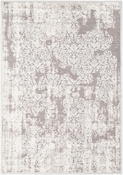 Surya Hazar Light Gray White Charcoal Area Rug - 36 x 24 HZR2301-23