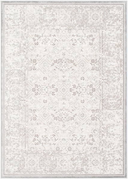 Surya Hazar Light Gray Charcoal White Area Rug - 87 x 63 HZR2305-5373
