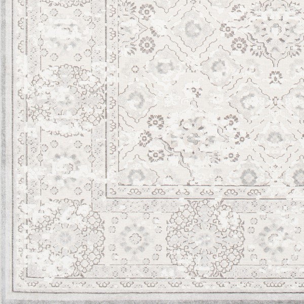 Surya Hazar Light Gray Charcoal White Area Rug - 18 x 18 HZR2305-1616