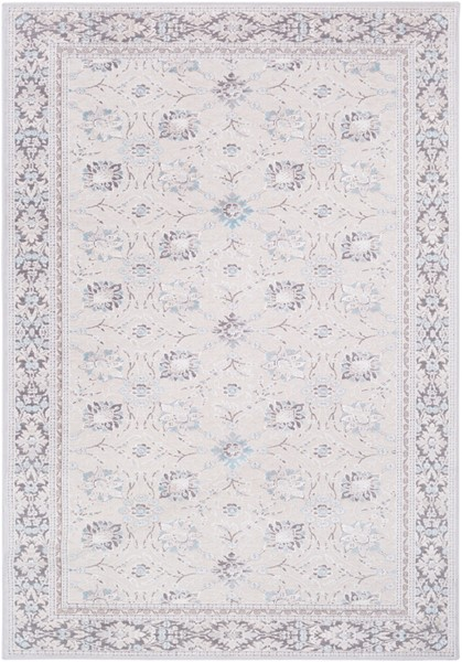 Surya Hazar Ivory Charcoal Light Gray Area Rug - 123 x 94 HZR2307-710103