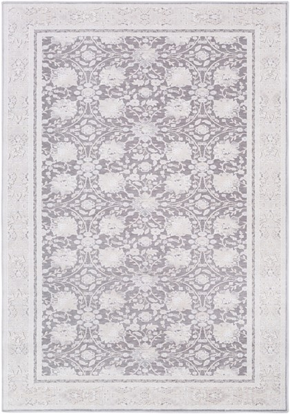 Surya Hazar Charcoal White Ivory Area Rug - 123 x 94 HZR2308-710103