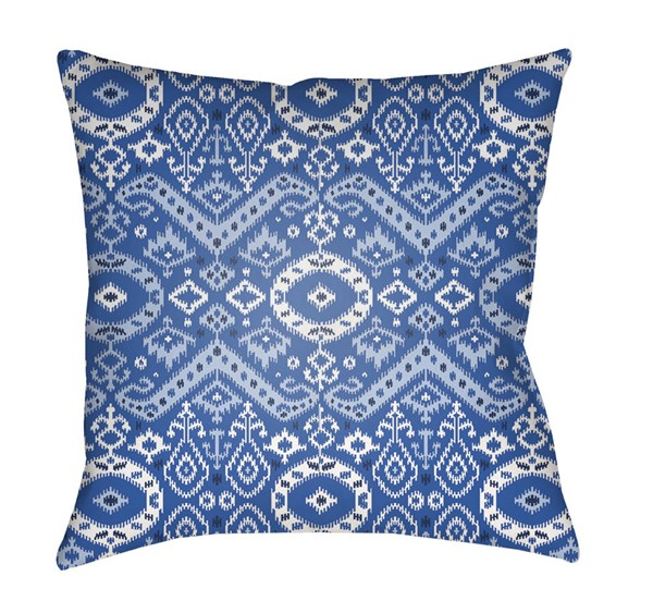Surya Blue Medallion and Damask Decorative Pillow Cover - 18x18 ID014-1818