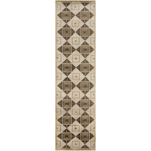 Mugal Plush Pile L 120 X W 30 Runner Wool Rug IN-8008 IN8008-2610