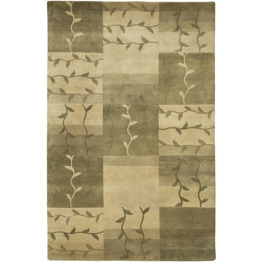 Mugal Standard Green Moss Wool Runner Rug IN8083-VAR