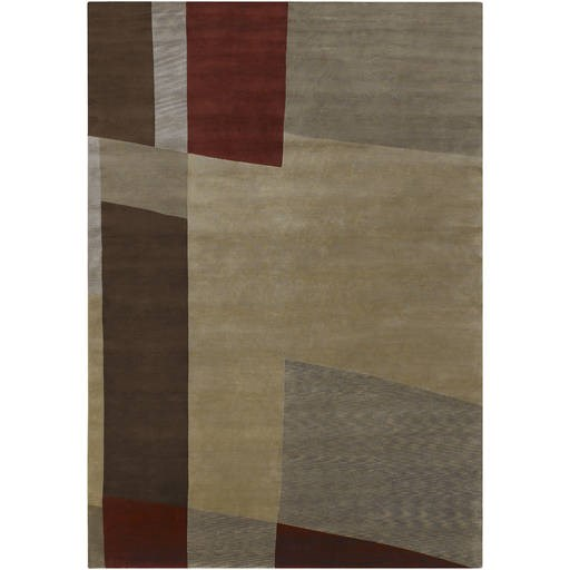 Mugal Plush Pile L 132 X W 96 Rectangle Wool Rug IN-8101 IN8101-811
