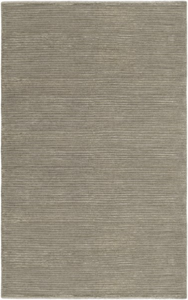 Mugal Contemporary Light Gray Wool Area Rug (L 96 X W 60) IN8256-58