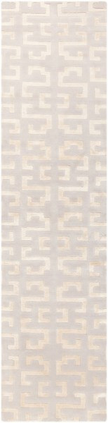 Mugal Contemporary Beige Semi-Worsted Wool Rugs 1487-VAR1