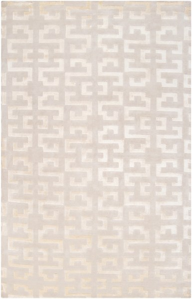 Mugal Contemporary Beige Wool Hand Knot Area Rug (L 96 X W 60) IN8578-58