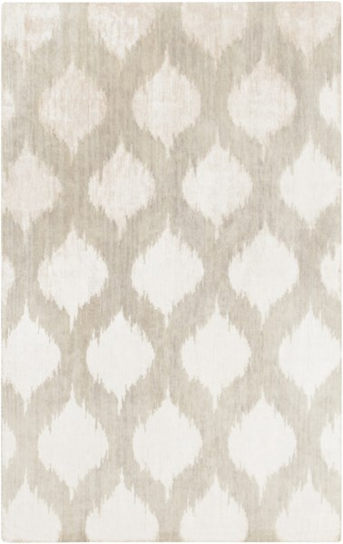 Mugal Light Gray Semi-Worsted Wool Hand Knot Area Rug (L 96 X W 60) IN8602-58