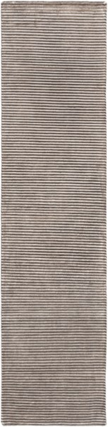 Mugal Contemporary Charcoal Light Gray Wool Runner (l 120 X W 30) IN8608-2610