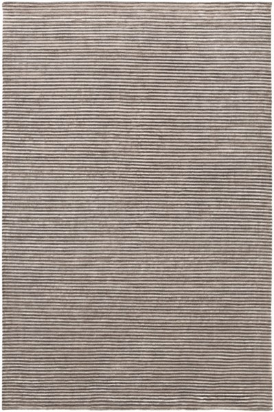Mugal Contemporary Charcoal Light Gray Wool Area Rug (L 96 X W 60) IN8608-58