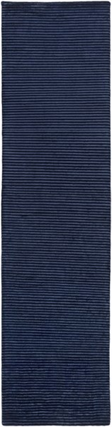 Mugal Contemporary Navy Wool Runner (l 120 X W 30) IN8618-2610
