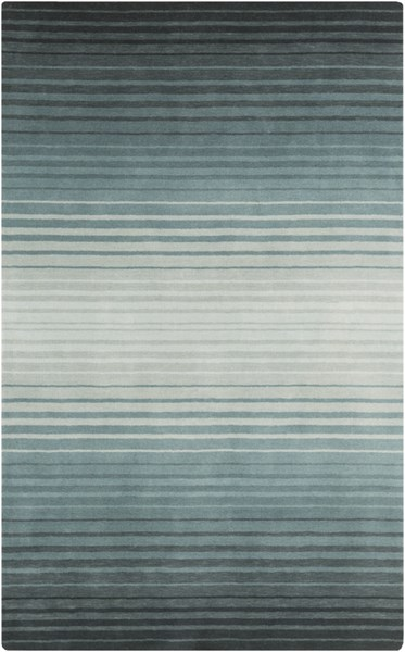 Indus Valley Teal Slate Mint New Zealand Wool Area Rug - 60 x 96 IND107-58
