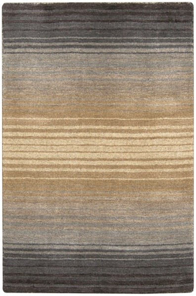 Indus Valley Beige Taupe Charcoal New Zealand Wool Area Rug - 24 x 36 IND95-23