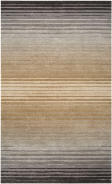 Indus Valley Beige Taupe Charcoal New Zealand Wool Area Rug - 60 x 96 IND95-58
