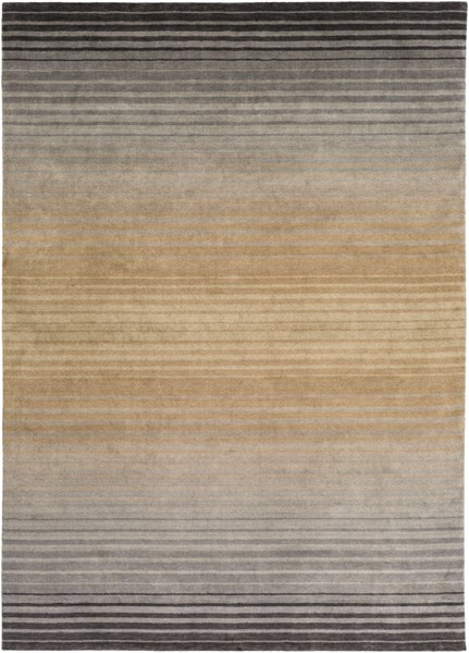 Indus Valley Beige Taupe Charcoal New Zealand Wool Area Rug - 96 x 132 IND95-811