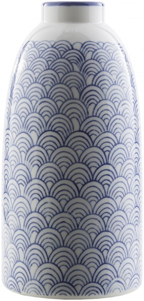 Iona Traditional Navy Ivory Ceramic Table Vase - 5.31W x 5.31L ION815-M
